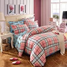 line Shop new plaid bedding set  cotton duvet cover bed