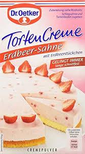 tortencreme erdbeer sahne dr oetker 1x cremepulver für