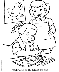 Kid Coloring Book Page For