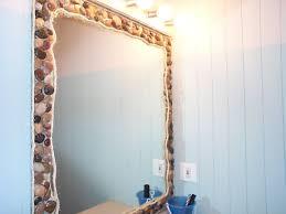 beach themed bathroom mirrors home decoration
