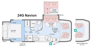 Itasca Class C Rv Floor Plans by 2015 Itasca Navion 24g