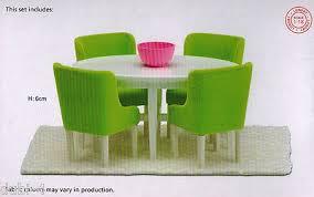lundby 60 2090 smaland esszimmer möbel tisch stühle für das puppenhaus 1 18
