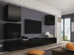details zu moderne wohnwand saturn 22 schrankwand hochglanz wohnzimmer komplett lowboard