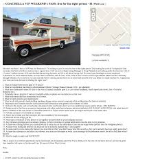 Creepy Coachella Craigslist Post. - Album On Imgur Wichita Food Trucks New Unique Used For Sale By Owner Vintage Step Van Craigslist Upcoming Cars 20 Alabama Truck Saveworningtoncollegecom Taco In Columbus Ohio Where To Find Great Authentic Mexican 7 Smart Places To Fl And Semi For Florida Luxury Tampa Area Pizza Trailer Bay The Owners Of The Pierogi Wagon Are Selling Their Food Truck Business Magnificient Cabover Sale Craigslist Youtube Truckdowin Khosh