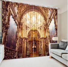 mode luxus europäischen blackout 3d vorhang für wohnzimmer das schlafzimmer vorhänge gold palace dekoration vorhänge