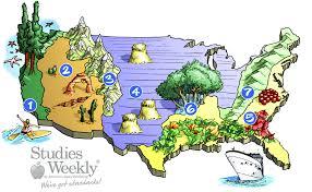 California Map Regions 4th Grade