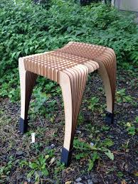 100 Plywood Rocking Armchair Mamulengo By Eduardo Baroni HARISEN STOOL Laser Cut Stool Chair Furniture