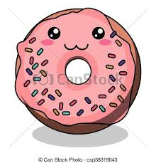 Donut Character Isolated Icon Design Vector