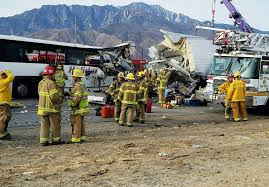 Palm Springs, CA - Tour Bus Crash On I-10 In California Kills At ... Trophy Truck Archives My Life At Speed Baker California Wreck 727 Youtube Lost Boy Memoirs Adventure Travel And Ss Off Road Magazine January 2017 By Issuu The Juggernaut Does Plaster City Mojave Desert Offroad Race Crash 3658 Million Settlement Broken Fire Truck Stock Photos Images Alamy Car On Landscape Semi Carrying Pigs Rolls In Gorge St George News Head Collision Kills One On Hwy 18