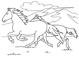 Horse Printable Coloring Pages Free For Kids Picture