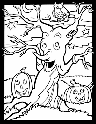 Scary Halloween Pumpkin Coloring Pages by Friendly Not Scary Halloween Coloring Page For Kids Welcome To