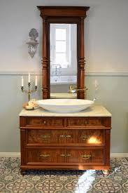 gründerzeit kommode mit marmorplatte spiegel als