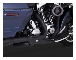Vance And Hines Dresser Duals Black by Vance U0026 Hines Ctr Power Duals Headers For Harley Touring 2014 2016
