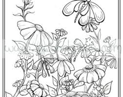 Adult Colouring In PDF Download Garden Henna Zen Mandalas Flower Anti Stress Mindfulness Flowers