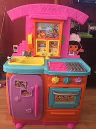 Dora Kitchen Play Set Walmart by Find More Talking Dora Play Kitchen With Some Food Pot Pan