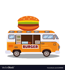 100 Food Delivery Truck Street Food Truck Van Fast Food Delivery Fast Vector Image