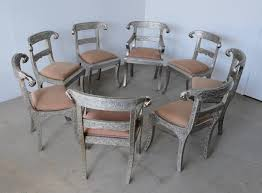 Set Of Eight Vintage Rams Head Anglo-Indian Embossed Silver Metal Dining  Chairs Home Source Donna Silver Metal Ding Table Grey Na Fniture Nice Chair Room Qarmazi White And Gray Set Of Eight Vintage Rams Head Angloindian Embossed Chairs Ausgezeichnet Industrial Wood Design Hefner Silver 5 Piece Ding Set 100 To Complete Flash 315 X 63 Rectangular Inoutdoor With 4 Stack Polk In Brushed Rustic Pine Seat 3pcs Black Metal Details About 2pcs Distressed 11922 Indian Hub Cosmo Silver Ding Table Chairs Thepizzaringcom