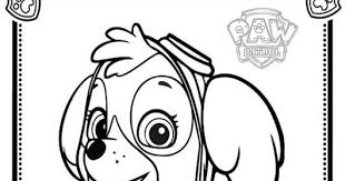 Paw Patrol Coloring Pages Sky 2552085