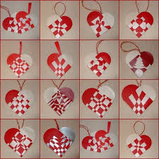 Red Heart DIY Paper 2015 Christmas Garland Decorations
