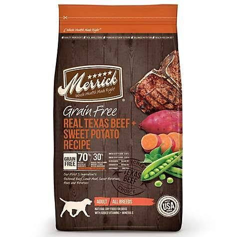 Merrick Grain Free Adult Dog Food - Real Texas Beef & Sweet Potato, 4 Lb