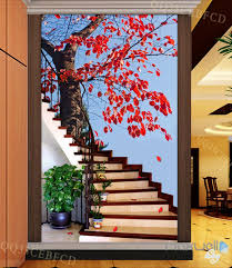 Wall Mural Decals Tree by 3d Maple Tree Stair Corridor Entrance Wall Mural Decals Art Print