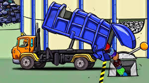 Garbage Truck Vehicles - Trucks Cartoon For Kids | Recycling Truck ...