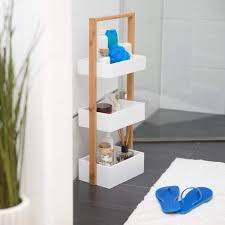 relaxdays badregal mit 3 körben korbregal fürs bad 76 x 30 x 18 5 cm