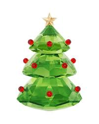 Swarovski Crystal Christmas Tree Figure Green
