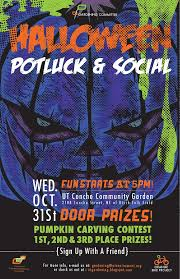 Halloween Potluck Signup Sheet by Ut Gardening Committee