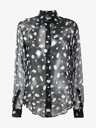saint laurent sheer polka dot blouse blouses browns fashion