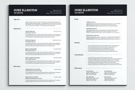 Free Two Page Resume Template Packed With One