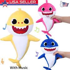 Pinkfong Soft Dolls Baby Shark With Music Cute Animal Stuffed Plush