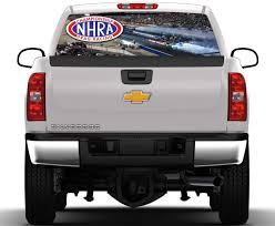 100 Rear Truck Window Decals Drag Racing NHRA Graphic Nostalgia