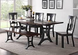 Astor Rectangular Dining Table W 4 Side Chair Bench