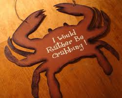 I WOULD RATHER BE CRABBING Rustic Seafood Restaurant Crab Boat Sign Home Decor