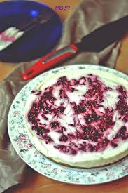 """This """"No Bake Blueberry Swirl Cheesecake"""" was baked recently when our family came visiting us This cheesecake has no setting agents like gelatin or"""