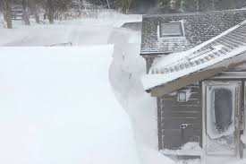 The Home Was Almost Buried Under 12 Feet Of Snow Image PA
