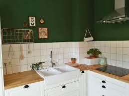 meineküche kitchen green ikea wandfarbe küche