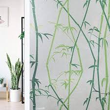 dktie deko fenster frischhaltefolie designs vinyl kein kleber sichtschutzfolie statische glasfenster für badezimmer tür bambus