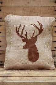 Deer Cabin Decor Rustic DIY Burlap Jute Decorative Pillow Cover 12x12 On Etsy 1800