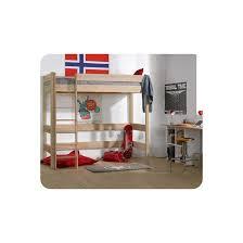 ma chambre d enfants lit mezzanine enfant clay 90x190 cm marron clair ma chambre d enfant