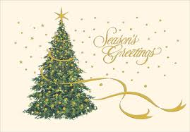 Gold Foil On Christmas Tree Card By Designer Greetings