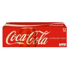 Coca Cola Caffeine Free 12oz 355ml Cans 12 Pack