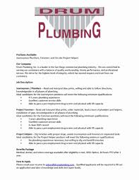 Examples Baskanai Plumber Job Description Resume Beautiful Journeymanr Apprentice Construction Contemporary Objective