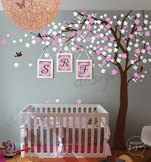 Tree Wall Decor With Pictures by Baby Nursery Decor Adorable Pink White Blossom Sakura Baby