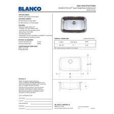 Blanco Sink Protector Stainless Steel by Blanco 441024 Stellar Stainless Steel Undermount Single Bowl