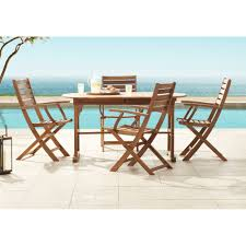 Teal Island Designs Capri Natural Wood 5-Piece Outdoor Patio Dining Set French Style Parisian Cafe Bistro Rattan Ding Chairs Pair Choose A Folding Table For Small Space Adorable Home 2xhome Set Of 2 Modern Plastic Eiffel Side Chair Colors With Natural Wood Dowel Leg For Kitchen Work Bedroom Dsw 37 Foldable Great To Have Around Chair Terje Beech John Lewis Butterfly Drop Leaf And Four Dch1001cset2 Fniture By Safavieh Se18 Folding Chair Natural Ralene Room Extension Ashley Homestore
