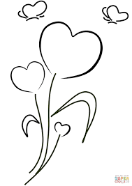 Click The Hearts And Flowers Coloring Pages To View Printable Version Or Color It Online Compatible With IPad Android Tablets