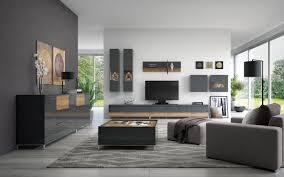 wohnzimmer komplett set f vaitele 10 teilig farbe anthrazit hochglanz walnuss