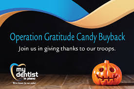 Operation Gratitude Halloween Candy Buy Back by Dr Dickson U0027s Annual Halloween Candy Buyback My Dentist In Plano